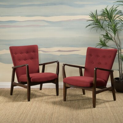 Sardinia Armchair Color: Deep Red