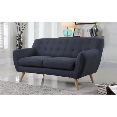 Cal Mid-Century Loveseat Upholstery: Polo Blue