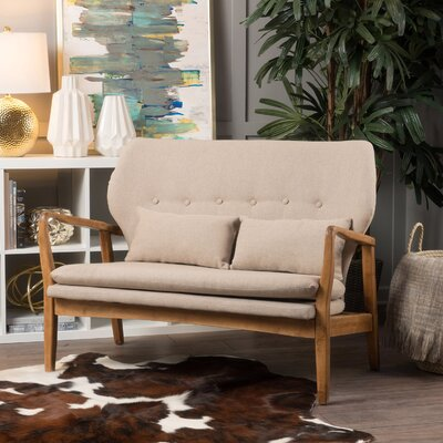 Punta Gorda Mulberry Loveseat Upholstery: Wheat Cream