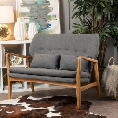 Punta Gorda Mulberry Loveseat Upholstery: Dark Gray