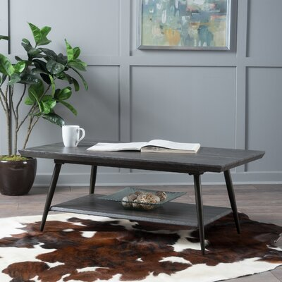 Elizabeth Coffee Table Color: Black Oak