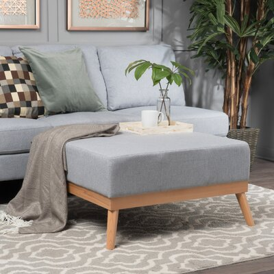 Payton Cocktail Ottoman Upholstery: Light Gray