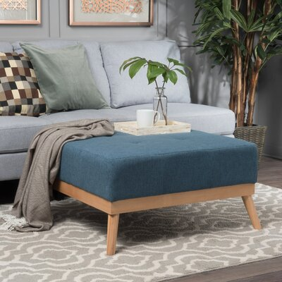 Payton Cocktail Ottoman Upholstery: Blue