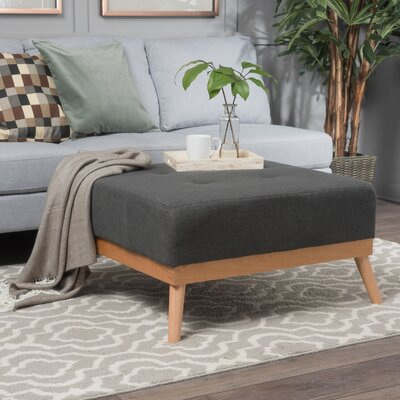 Payton Cocktail Ottoman Upholstery: Dark Gray