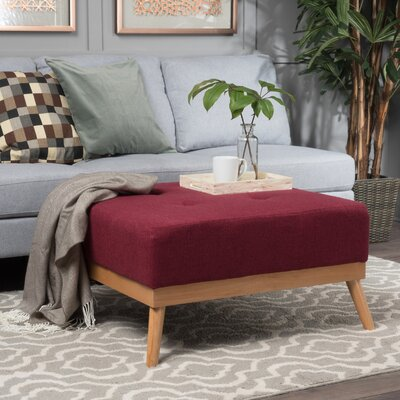 Devil's Churn Ottoman Upholstery: Deep Red
