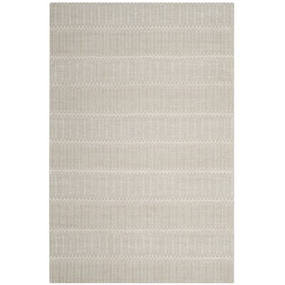 Alexandria Hand-Woven Beige Area Rug Rug Size: Rectangle 4 x 6