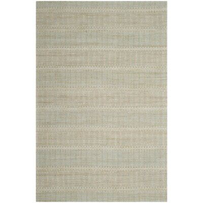 Alexandria Hand-Woven Blue/Gold Area Rug Rug Size: Rectangle 4 x 6