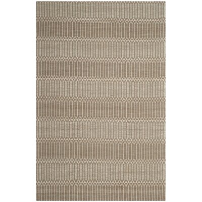Alexandria Hand-Woven Brown Area Rug Rug Size: Rectangle 4 x 6