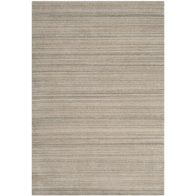 Aghancrossy Hand-Loomed Stone Area Rug Rug Size: Rectangle 4 x 6