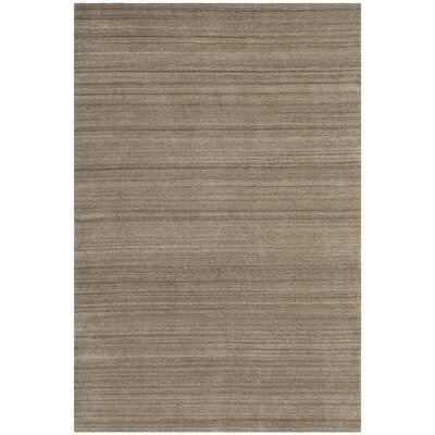 Aghancrossy Hand-Loomed Taupe Area Rug Rug Size: Rectangle 4 x 6
