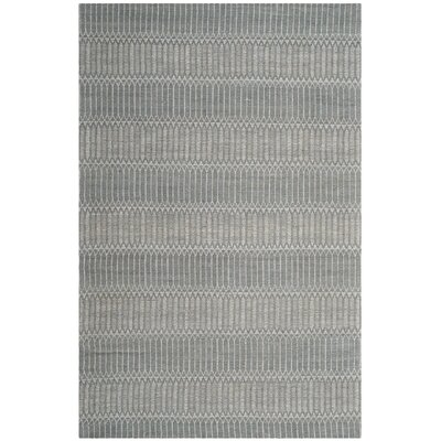 Alexandria Hand-Woven Silver Area Rug Rug Size: Rectangle 4 x 6