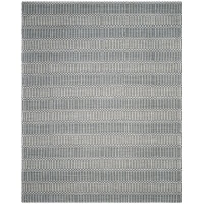 Alexandria Hand-Woven Silver Area Rug Rug Size: Rectangle 8 x 10