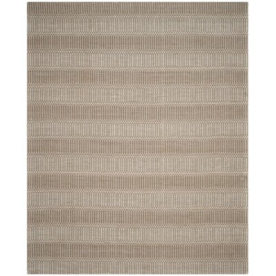 Alexandria Hand-Woven Brown Area Rug Rug Size: Rectangle 8 x 10
