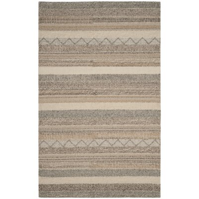 Daytona Beach Hand-Tufted Beige Area Rug Rug Size: Rectangle 5 x 8