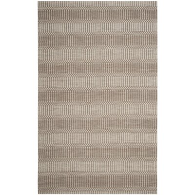 Alexandria Hand-Woven Brown Area Rug Rug Size: Rectangle 5 x 8