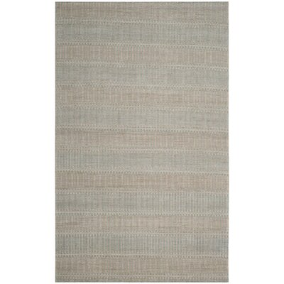 Alexandria Hand-Woven Blue/Gold Area Rug Rug Size: Rectangle 5 x 8