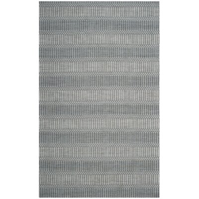 Alexandria Hand-Woven Silver Area Rug Rug Size: Rectangle 5 x 8