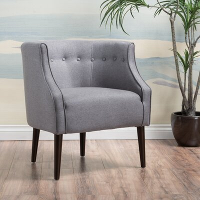 Lilian Barrel Chair Upholstery: Gray