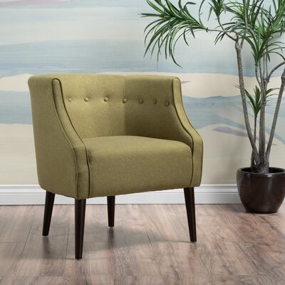 Lilian Barrel Chair Upholstery: Green