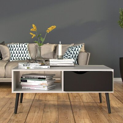 Mateer Coffee Table Color: White/Black
