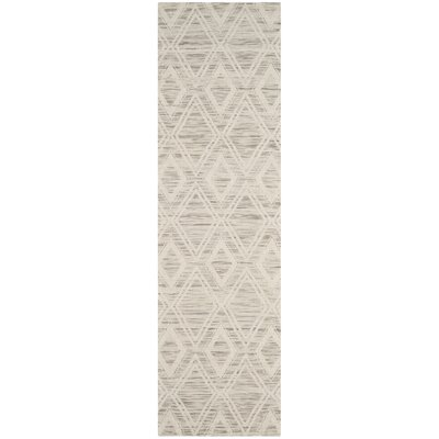 Alexandria Hand-Woven Light Brown/Ivory Area Rug Rug Size: Runner 23 x 8