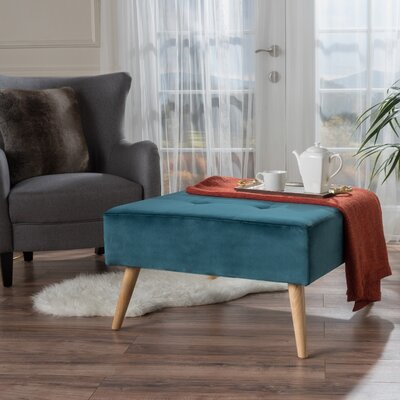 Alcurve Cocktail Ottoman Upholstery: Dark Teal