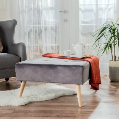 Alcurve Cocktail Ottoman Upholstery: Gray