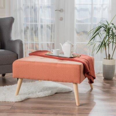 Alcurve Cocktail Ottoman Upholstery: Orange