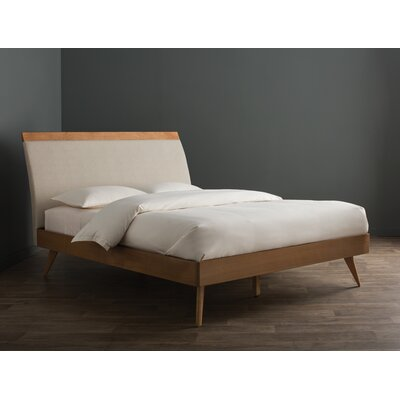Leominster Upholstered Platform Bed Size: King, Color: Natural
