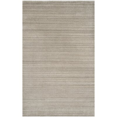 Aghancrossy Hand-Loomed Stone Area Rug Rug Size: Rectangle 5 x 8