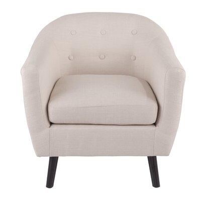 Henley Barrel Chair Upholstery: Cream