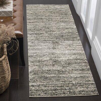 Thrush Ivory/Gray Area Rug Rug Size: Runner 23 x 11