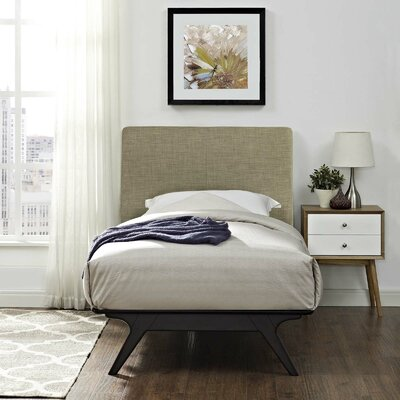 Modesto Twin Platform Bed Color: Latte