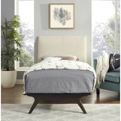 Modesto Twin Platform Bed Color: Beige