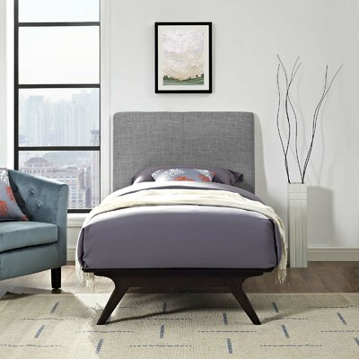 Modesto Twin Platform Bed Color: Gray