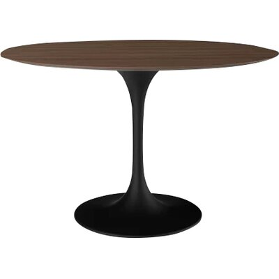 Larkson Round Dining Table Base Finish: Black Matte