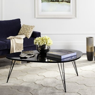 Seraphina Coffee Table Table Top Color: Black Lacquer