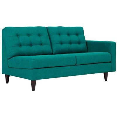 Warren Sectional Upholstery: Teal, Orientation: Right Hand Facing