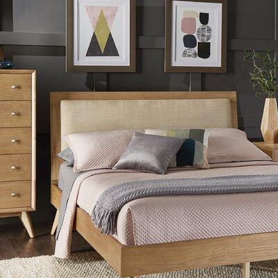 Angelo Linen Upholstered Queen Platform Bed
