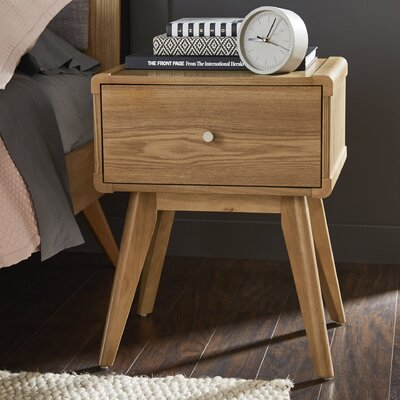 Leominster 1 Drawer Nightstand Color: Natural