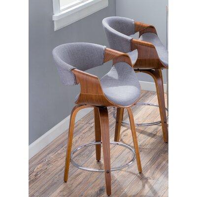 Auburn 24 Swivel Bar Stool Upholstery : Light Gray