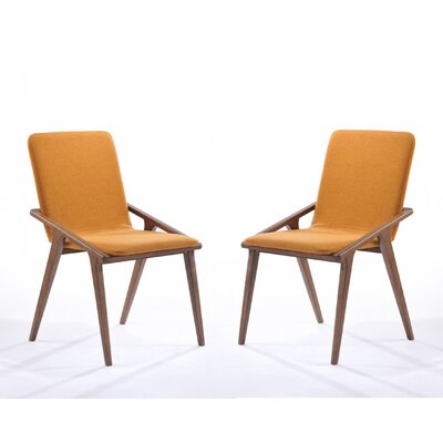 Mykonos Parsons Chair (Set of 2) Upholstery: Orange