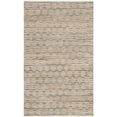 Martha Hand Woven Black/Natural Area Rug Rug Size: Rectangle 3 x 5