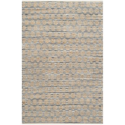 Martha Hand Woven Black/Natural Area Rug Rug Size: Rectangle 4 x 6