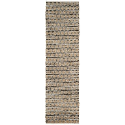 Martha Hand Woven Black/Natural Area Rug Rug Size: Runner 23 x 8