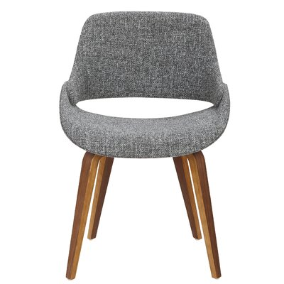 Aird Dining Chair Finish: Grey, Leg Finish: Bent Wood Frame