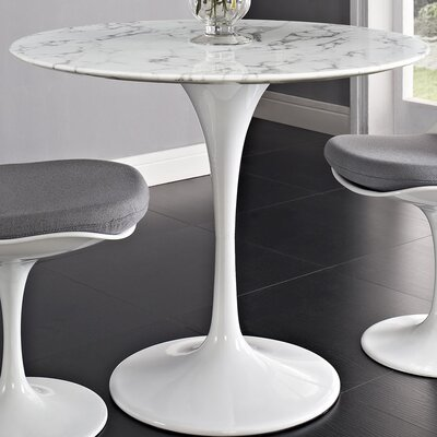 Julien Artificial Marble Dining Table Size: 29.5 H x 35.5 W x 35.5 D