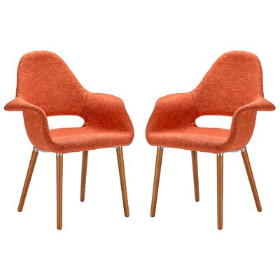 Kansas City Upholstered Dining Chair Upholstery Color: Orange