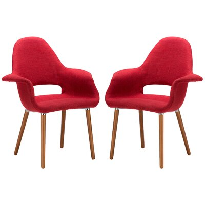 Kansas City Upholstered Dining Chair Upholstery Color: Red