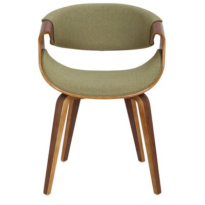 Corsica Curvo Armchair Finish: Green, Leg Finish: Cross Frame Bentwood